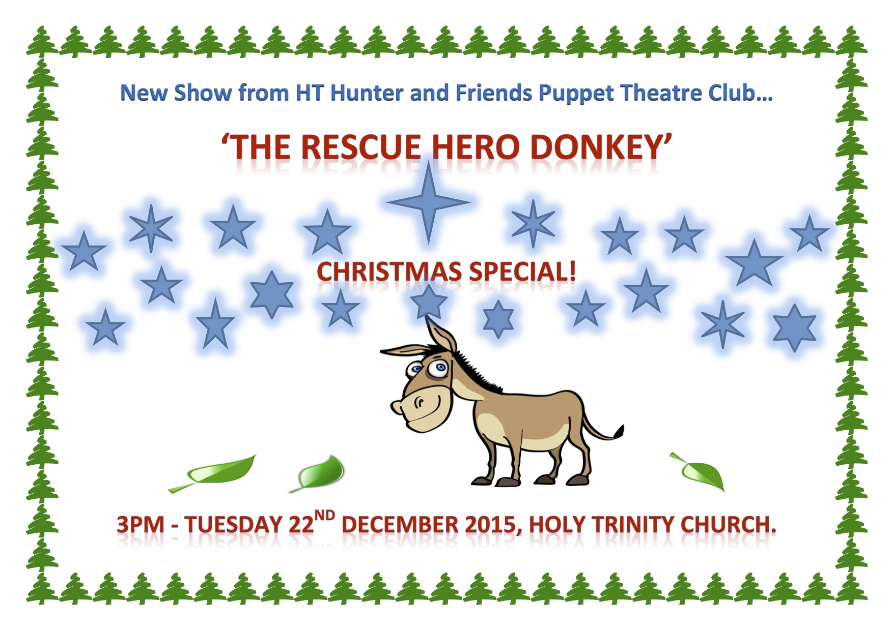 christmas poster rescue hero donkey